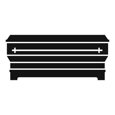 under ground: Coffin icon. Simple illustration of coffin vector icon for web