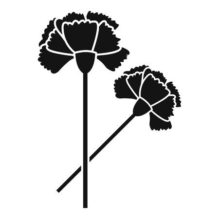Icona di garofano Illustrazione semplice dell'icona di vettore del garofano per il web