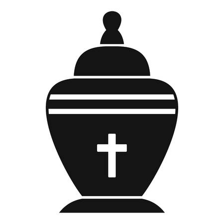 urn: Urn icon. Simple illustration of urn vector icon for web
