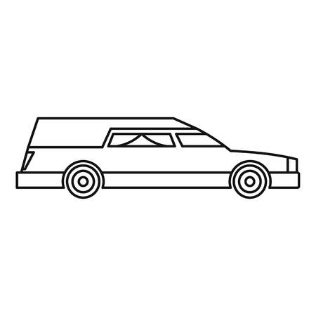sacrifice: Hearse icon. Outline illustration of hearse vector icon for web