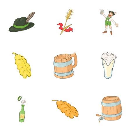 Pub icons set. Cartoon illustration of 9 pub vector icons for web Illustration
