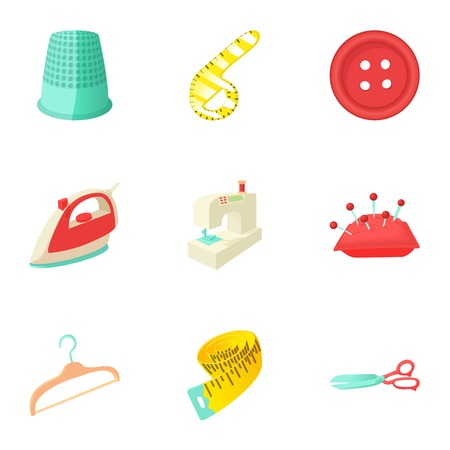 patching: Patching of clothes icons set. Cartoon illustration of 9 patching of clothes vector icons for web
