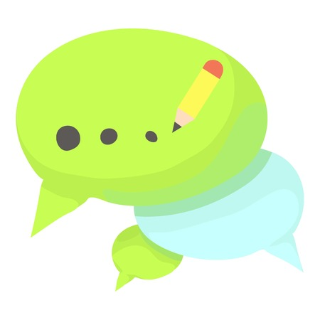 Chat icon. Cartoon illustration of chat vector icon for web