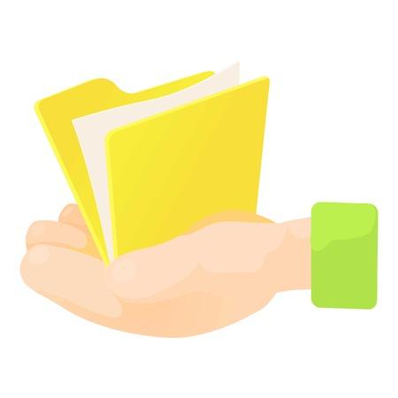 Folder icon. Cartoon illustration of folder vector icon for web Illustration