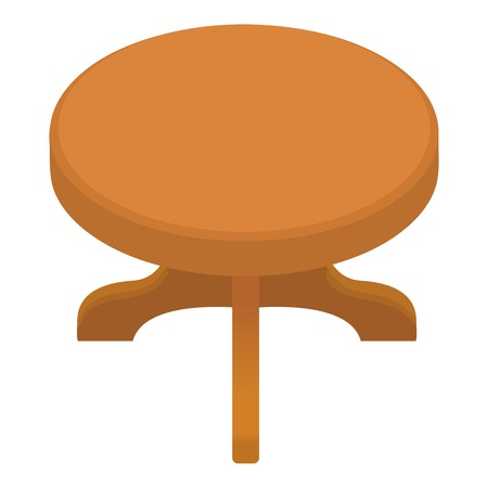 Round table icon. Cartoon illustration of round table vector icon for web