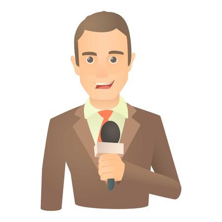 Standing presenter icon. Cartoon illustration of standing presenter vector icon for web Illustration
