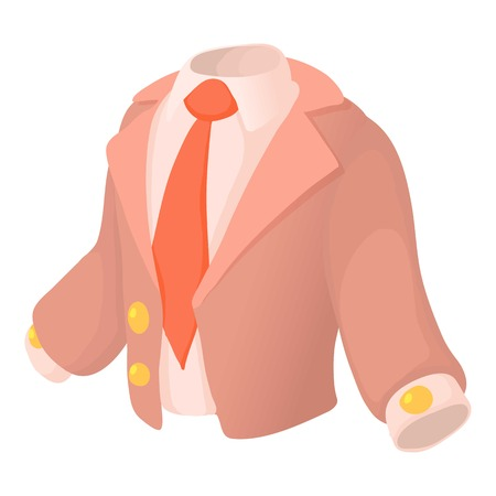 Suit icon. Cartoon illustration of suit vector icon for web Illustration