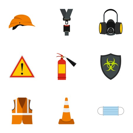 Repairs icons set. Flat illustration of 9 repairs vector icons for web Illustration