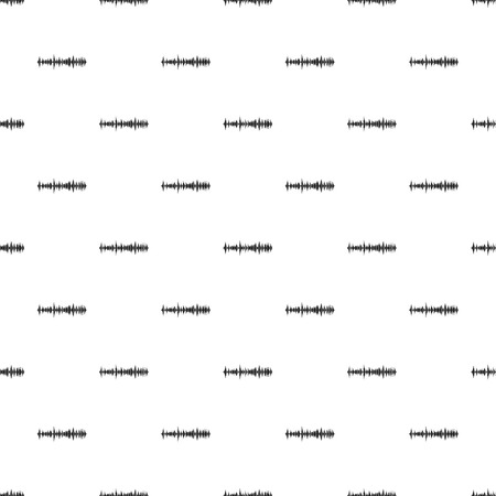 soundwave: Sound wave pattern. Simple illustration of sound wave vector pattern for web Illustration