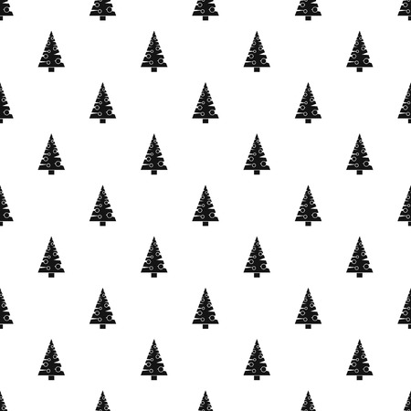 conifer: Christmas tree pattern. Simple illustration of Christmas tree vector pattern for web