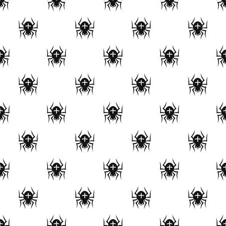 crawly: Spider pattern. Simple illustration of spider vector pattern for web