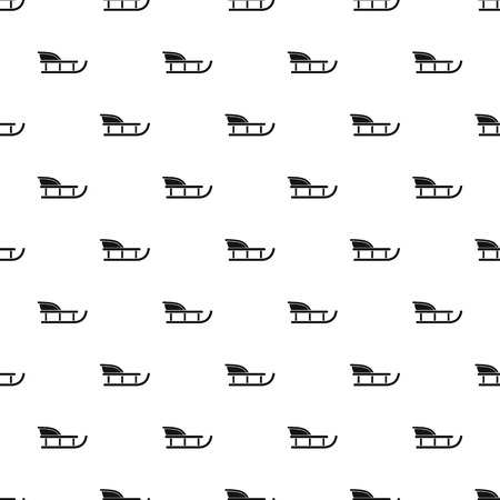 Sled pattern. Simple illustration of sled vector pattern for web
