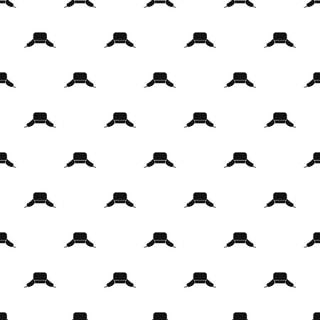 ear protection: Hat with ear flaps pattern. Simple illustration of hat with ear flaps vector pattern for web Illustration