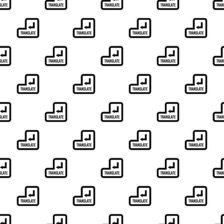 translate: Translate button pattern. Simple illustration of translate button vector pattern for web