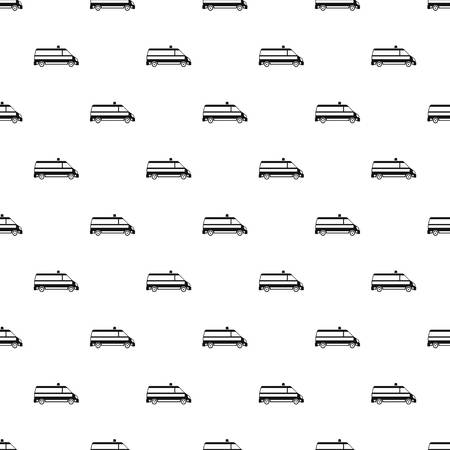 disaster relief: Ambulance car pattern. Simple illustration of ambulance car pattern for web