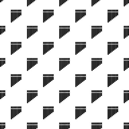 panpipe: Pan flute pattern. Simple illustration of pan flute pattern for web Illustration