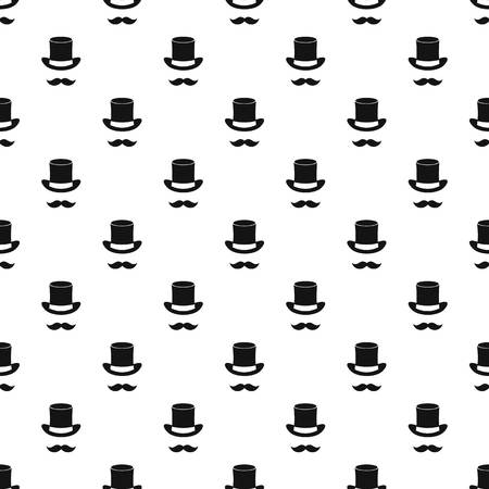 Magic black hat and mustache pattern. Simple illustration of magic black hat and mustache pattern for web Illustration
