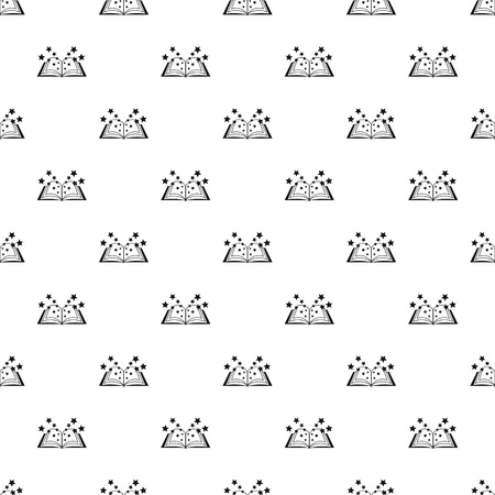 literary: Magic book pattern. Simple illustration of magic book pattern for web