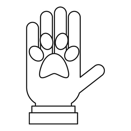 pets icon: Donations for pets icon. Outline illustration of donations for pets icon for web design