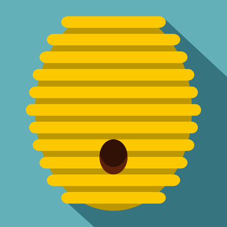Beehive icon. Flat illustration of beehive vector icon for web
