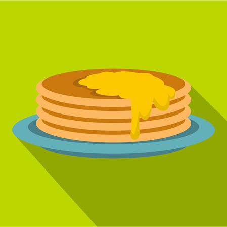 provision: Pancakes icon. Flat illustration of pancakes icon for web
