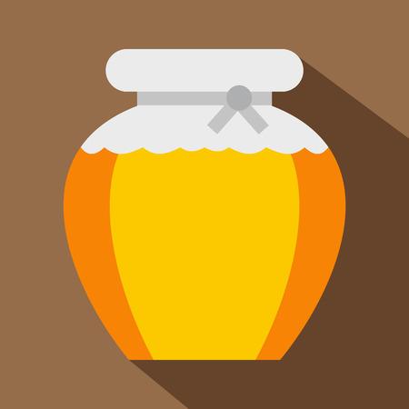 nectar: Honey icon. Flat illustration of honey icon for web