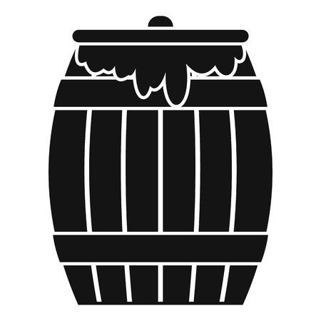 liquefied: Honey keg icon. Simple illustration of honey keg icon for web