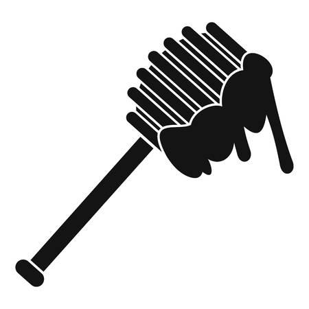 Honey spoon icon. Simple illustration of honey spoon icon for web