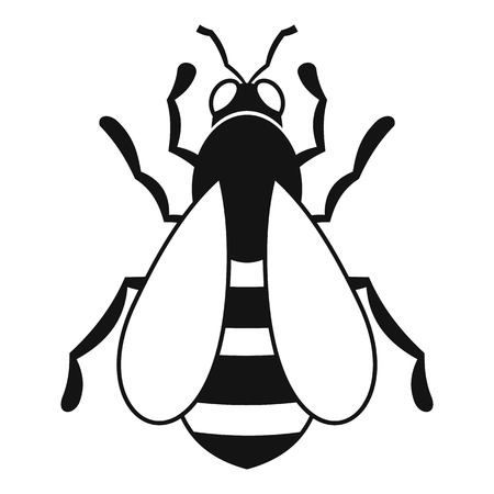 nectar: Bee icon. Simple illustration of bee icon for web Illustration