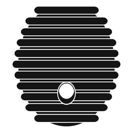 pollinate: Beehive icon. Simple illustration of beehive icon for web