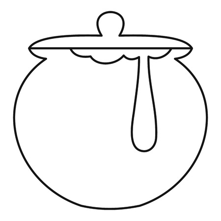 liquefied: Honey pot icon. Outline illustration of honey pot icon for web Illustration