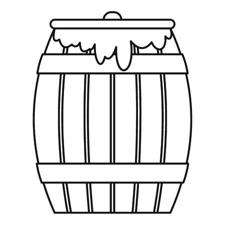 liquefied: Honey keg icon. Outline illustration of honey keg icon for web