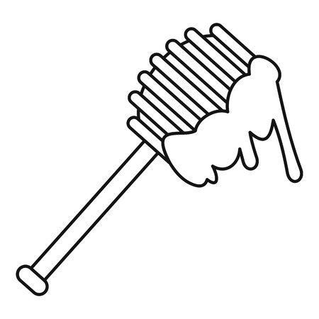 Honey spoon icon. Outline illustration of honey spoon icon for web