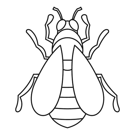 beeswax: Bee icon. Outline illustration of bee icon for web Illustration