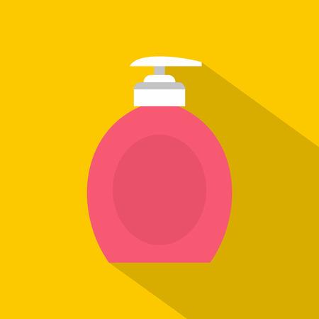 jabon liquido: icono de jabón líquido. ilustración plana del icono de jabón líquido para la web Vectores