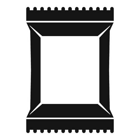 napkins: Napkins pack icon. Simple illustration of napkins pack vector icon for web