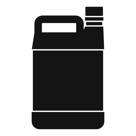 twist cap: Jerrycan icon. Simple illustration of jerrycan vector icon for web