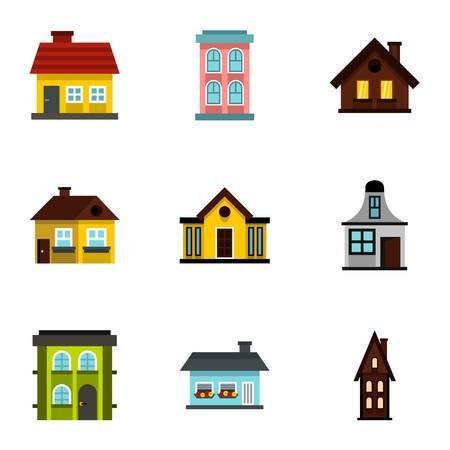 dwelling: Dwelling icons set. Flat illustration of 9 dwelling vector icons for web