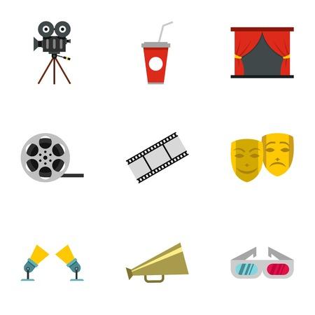 cinematography: Cinematography icons set. Flat illustration of 9 cinematography vector icons for web Illustration
