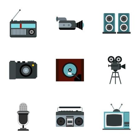 Electronic communication icons set. Flat illustration of 9 electronic communication vector icons for web Vektorové ilustrace