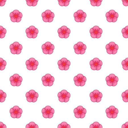 The Rose of Sharon pattern. Cartoon illustration of the Rose of Sharon vector pattern for web Ilustração