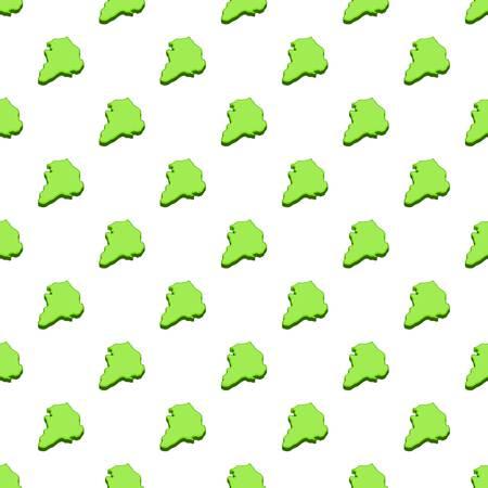 South Korea green map pattern. Cartoon illustration of South Korea green map vector pattern for web