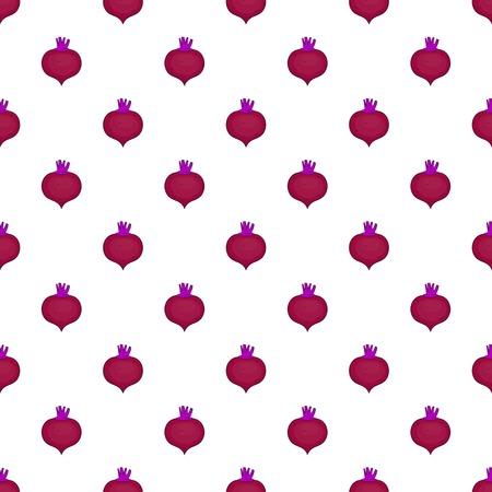 Beetroot pattern. Cartoon illustration of beetroot vector pattern for web Illustration
