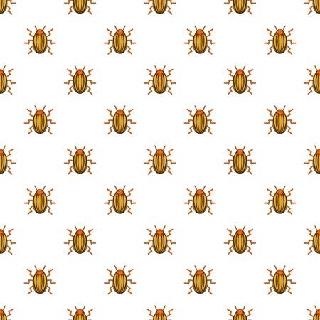 Colorado potato beetle pattern. Cartoon illustration of colorado potato beetle vector pattern for web