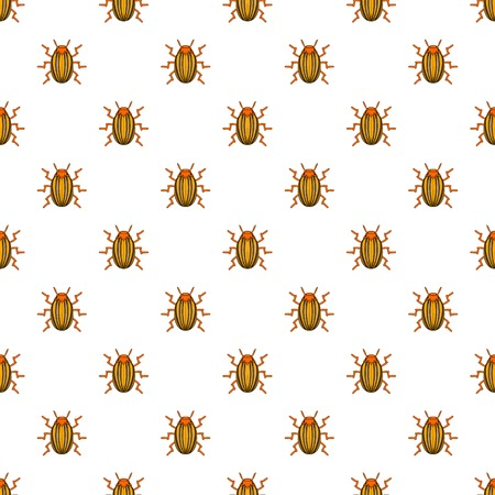 Colorado potato beetle pattern. Cartoon illustration of colorado potato beetle vector pattern for web