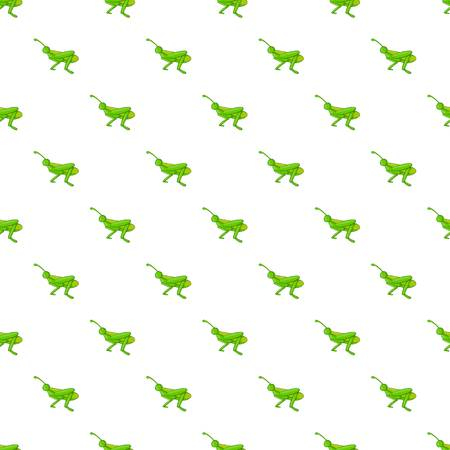 Grasshopper pattern. Cartoon illustration of grasshopper vector pattern for web