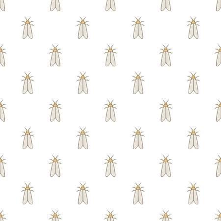 Moth pattern. Cartoon illustration of moth vector pattern for web