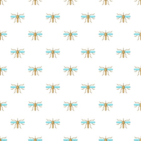 itch: Mosquito pattern. Cartoon illustration of mosquito vector pattern for web Illustration
