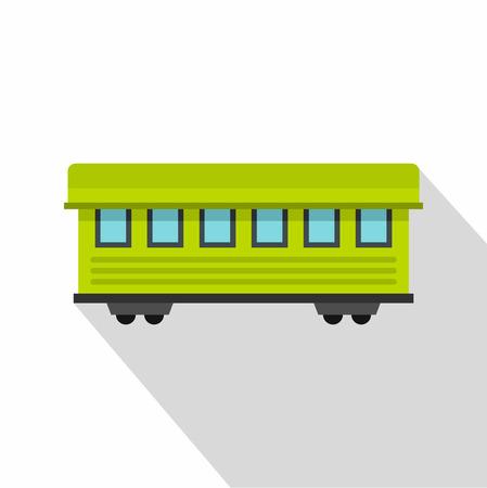 railcar: Passenger train car icon. Flat illustration of passenger train car vector icon for web design Illustration