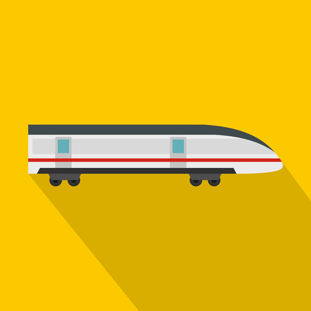 high speed: Modern high speed train icon. Flat illustration of high speed train vector icon for web design
